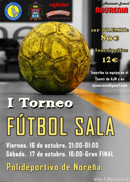 Cartel Ier Torneo Futbol Sala